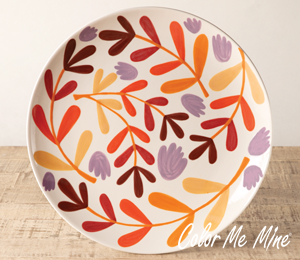 Montgomeryville Fall Floral Charger