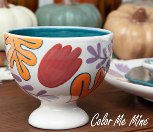 Montgomeryville Floral Pedestal Bowl