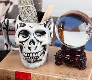 Montgomeryville Antiqued Skull Mug