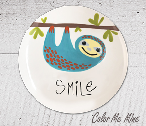 Montgomeryville Sloth Smile Plate