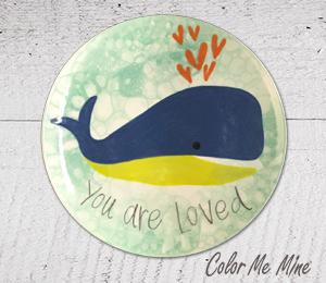 Montgomeryville Whale Love Plate