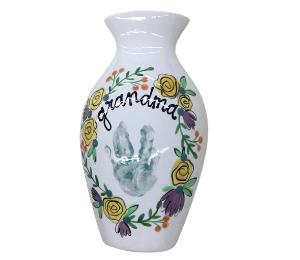 Montgomeryville Floral Handprint Vase