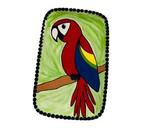 Montgomeryville Scarlet Macaw Plate